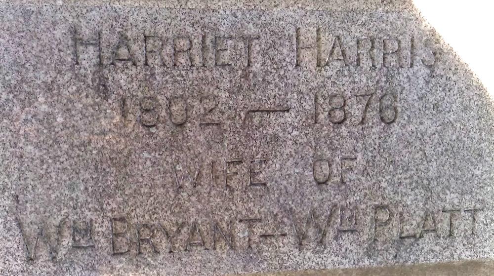 Harriet Harris 1802-1876, Wife of Wm Bryant - Wm Platt (Melzor)