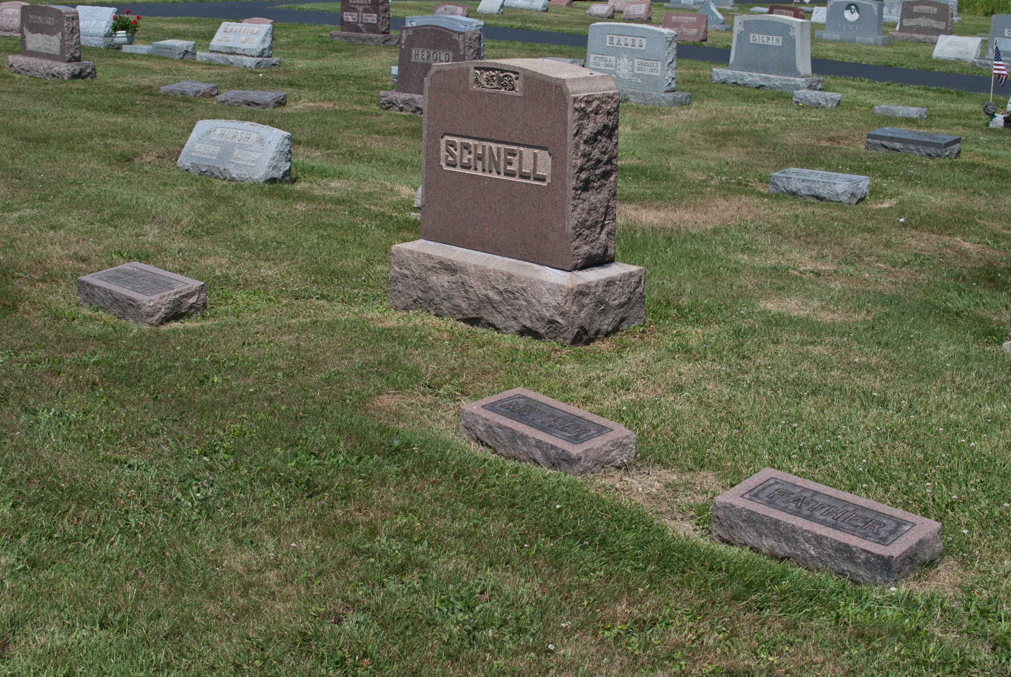 Schnell Family Gravesite in Columbia Cemetery