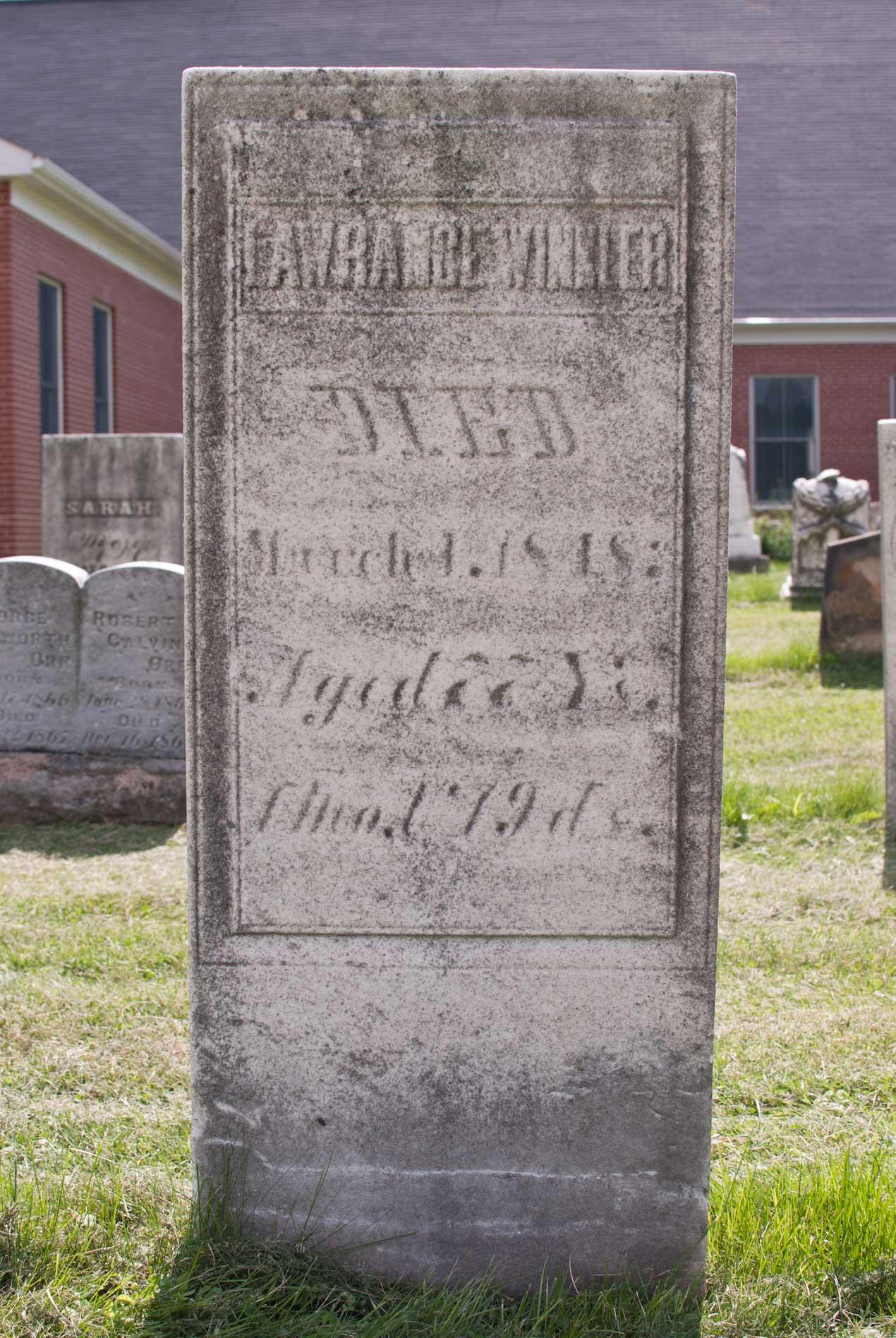 Wayne Presbyterian Church Cemetery, Wayne Township, Wayne, Ohio