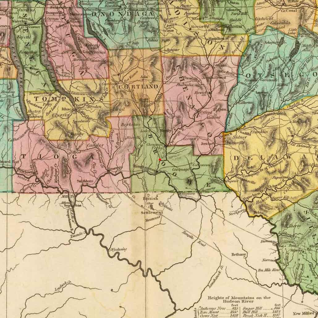 Chenango, Broome County, New York on 1825 map © 2000 Cartography Associates (DavidRumsey.com)