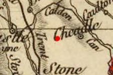 Caverswall, England on 1827 map © 2000 Cartography Associates (DavidRumsey.com)