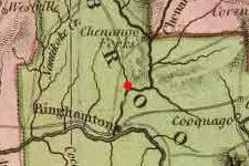 Chenango, Broome County, New York on 1825 map © 2000 Cartography Associates (DavidRumsey.com)