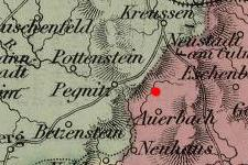 Gunzendorf, Germany on 1867 map © 2000 Cartography Associates (DavidRumsey.com)
