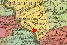 Middletown, PA on 1825 map © 2000 Cartography Associates (DavidRumsey.com)