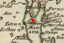 Nes, Hedmark, Norway on Historic Map from 1796 (c) DavidRumsey.com
