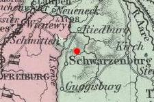 Schwarzenburg, Switzerland on map in 1874 © 2000 Cartography Associates (DavidRumsey.com)