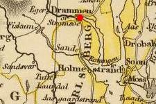 Konnerud, Norway on 1832 map © 2000 Cartography Associates (DavidRumsey.com)
