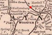 Smithville, Ohio on 1897 map © 2000 Cartography Associates (DavidRumsey.com)