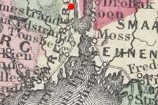 Svelvik, Norway on 1865 map © 2000 Cartography Associates (DavidRumsey.com)