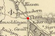 Thun, Bern, Switzerland on 1854 map © 2000 Cartography Associates (DavidRumsey.com)