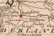 Zutphen, Netherlands on 1848 map © 2000 Cartography Associates (DavidRumsey.com)