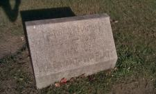 Ridgeville Center Cemetery, North Ridgeville, Lorain, Ohio - Far West end, half way back, by itself under a tree